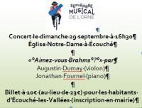 Conférence \Autour de Brahms\