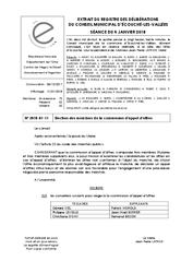 Télécharger le document Élections des membres de la commission d'appel d'offres