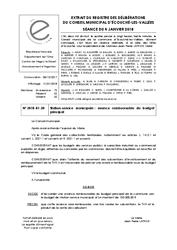 Télécharger le document Station-Service Municipale : Avance remboursable du budget prinicipal