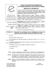 Télécharger le document 2018-02-15 Demandes de subventions pour la réalisation des travaux de remplacement des vestiaires du stade de football d'Écouché