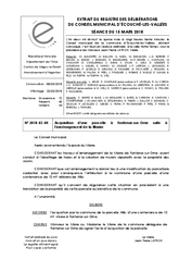 Télécharger le document 2018-03-15 Acquisition d'une parcelle à Fontenai-Sur-Orne suite à l'aménagement de la Mairie