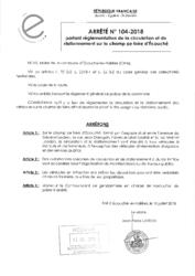 Télécharger le document Arrêté N°104-2018 - portant réglementation de la circulation et du stationnement sur le champ de foire d'Écouché
