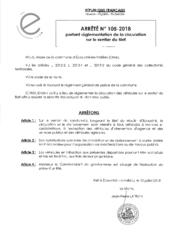 Télécharger le document Arrêté N°105-2018 - portant réglementation de la circulation sur le sentier du Bief