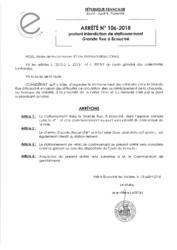 Télécharger le document Arrêté N°106-2018 - portant interdiction de stationnement Grande Rue à Écouché