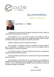 Télécharger le document Bulletin municipal d'Écouché-les-Vallées - numéro 1- Juin 2016