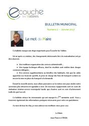 Télécharger le document Bulletin Municipal d'Écouché-les-Vallées - numéro 2 - Janvier 2017