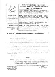 Télécharger le document 2018-02-15 Délégation de pouvoirs au Maire de la commune nouvelle