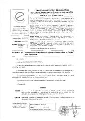 Télécharger le document 2019-01-07 Indemnisation du locataire du logement communal de La Courbe suite à un préjudice