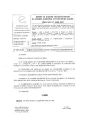 Télécharger le document 2021-02-08 Budget annexe : adoption du budget primitif 2021